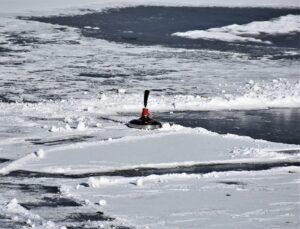 Eisstock im Schnee
